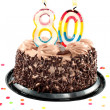 Eightieth birthday or anniversary — Stock Photo
