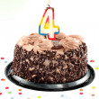Stockfoto: Fourth birthday
