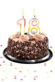 Eighteenth birthday or anniversary — Stock Photo