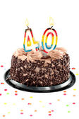Fortieth birthday or anniversary — Stock Photo