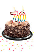 Seventieth birthday or anniversary — Foto Stock