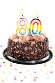 Octogésimo cumpleaños o aniversario — Foto de Stock
