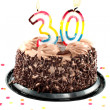 Stock Photo: Thirtieth birthday or anniversary