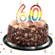 Sixtieth birthday or anniversary — Stock Photo