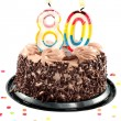 Eightieth birthday or anniversary - Stock Photo