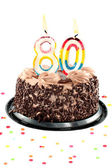 Eightieth birthday or anniversary — Stock Photo