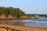 Vacker utsikt över new river beach — Stockfoto
