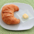 Royalty-Free Stock Photo: Golden croissant for breakfast