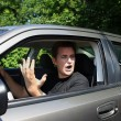Road rage — Stock Photo
