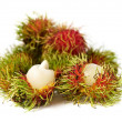 Exotic Thai fruit Rambutan or Ngo - Stock Photo