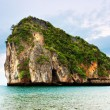 High cliffs on the tropical island. - Stock Photo