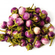 Group of small Egg-plants. Aubergine. - Stock Photo