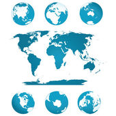 Küre ve dünya haritası — Stok Vektör