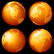 Foto Stock: Earth globes