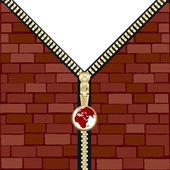 Unzipped wall — Stock Vector