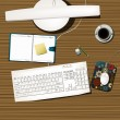 Working desk — Vector de stock #2942914