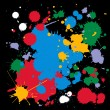 Colorful ink splats — Stock Vector