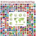 世界各国国旗 — 图库矢量图片