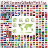 Vlajky světa — Stock vektor