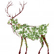 Deer illustration - Vettoriali Stock