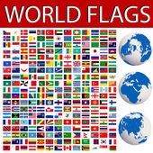 Banderas del mundo — Vector de stock