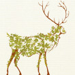 Stylized deer - Stock Photo