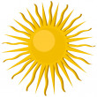 pictogram sun — Stockfoto