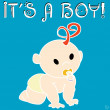 Royalty-Free Stock Photo: It\'s a boy card