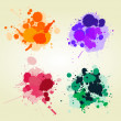Colored paint splats background — Stock Photo