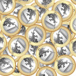 Euro coins background — Foto de Stock