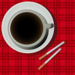 Coffee and cigarettes — Stock Photo