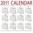 2010 Calendar on paper - Stock Photo