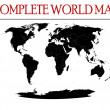 Complete world map — Stock Photo