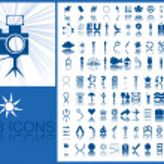 Blue icons — Stock Photo #3192873