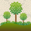 Trees background — Stock Photo