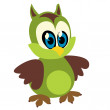 Funny owl - Stock Photo