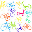 Background with bikes - Stock Photo