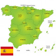 carte de l'Espagne — Photo