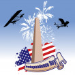 Independence day illustrated — Stock Photo