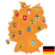 Map of Germany - Foto Stock