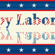 Labor Day sticker - Stock Photo