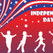Background illustration for Independence day — Stock Photo