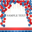 4th of july  card — Stock fotografie