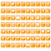 Glossy web buttons in orange tones — Stock Photo
