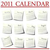 2011 Calendar — Stock Photo