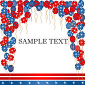 4th of july card — Stock Photo
