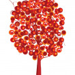 red tree — Stock Photo