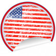 USA label — Foto Stock