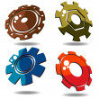 3d gears — Stock Photo