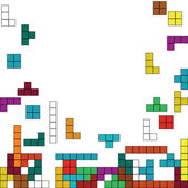 Color background with tetris design — Stock Photo